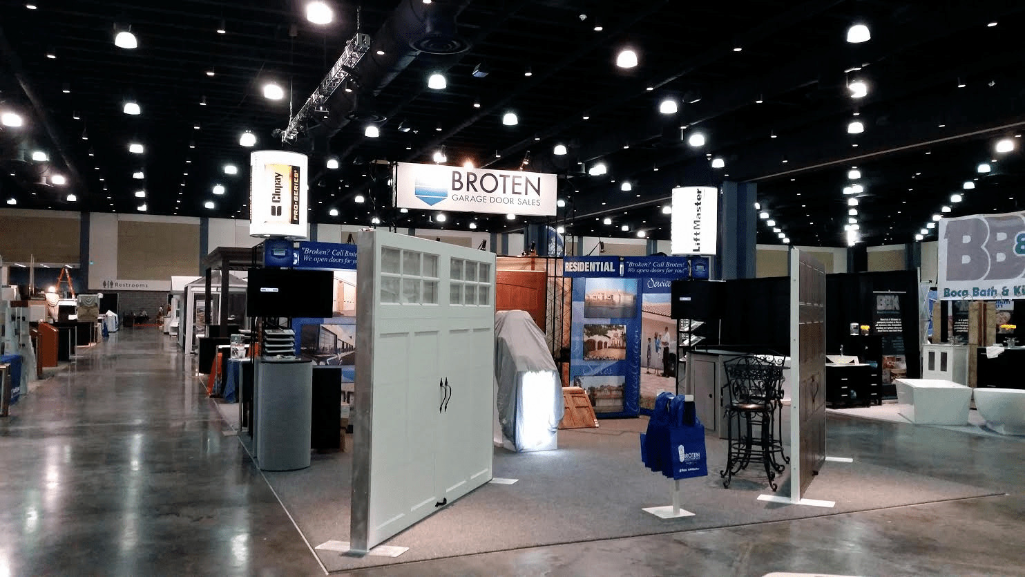 Broten Garage Door Sales display at Florida's Premier Home Improvement Show