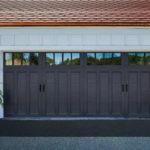 Black Coachman two-car garage door