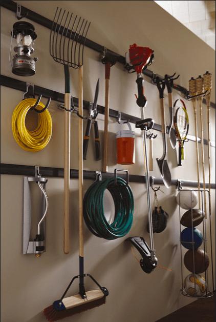 DIY Garage door organization