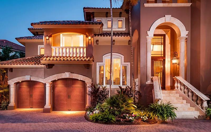Home with two Canyon Ridge ultra-grain garage doors