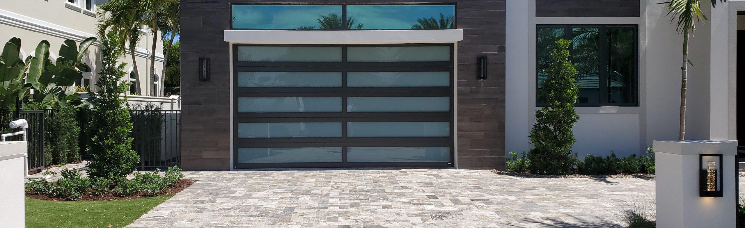 Florida home with large Impact Glass garage door