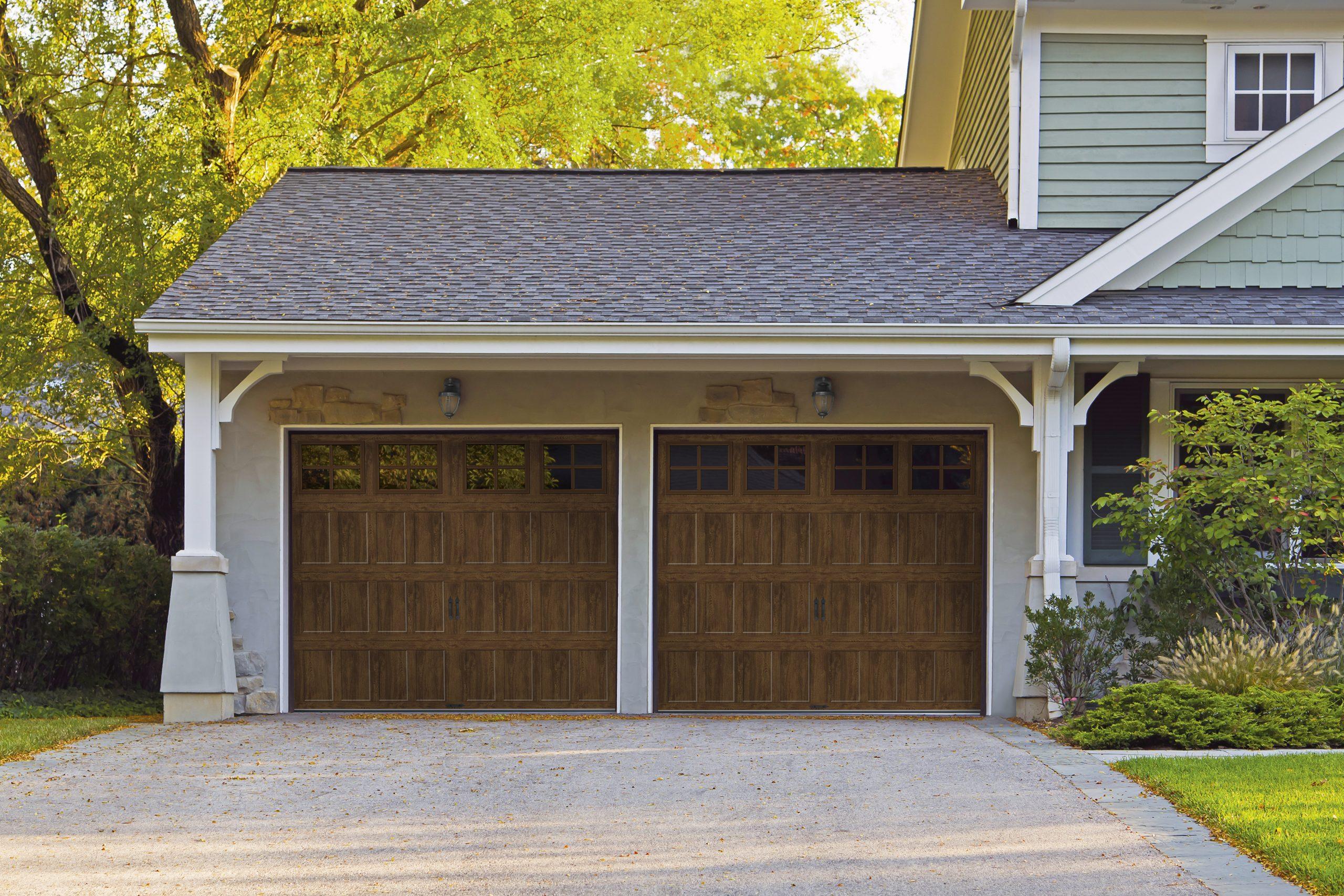 Bridgeport steel door in ultra-grain walnut